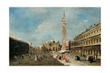 Piazza San Marco, Venice, C.1775-80 Giclee Print by Francesco Guardi