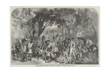 Fete Champetre in the Time of Charles II Giclee Print by F. Tayler