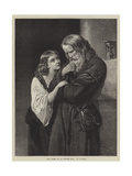 Adam Warner and His Daughter Sibyl Giclee Print by Francis John Wyburd