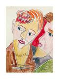 Lovers H 'Die Hembusse', 1931 Giclee Print by Ernst Ludwig Kirchner