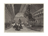 Interior of the Fine Arts Exhibition at the Palace of Industry, Paris Giclee Print by Felix Thorigny