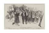 The Royal Wedding in Vienna, the Procession on the Way to the Chapel of the Hofburg Giclee Print by Frank Craig