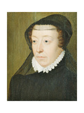 Portrait of Catherine De Medici (1519-89) Giclee Print by Francois Clouet