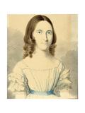 A Portrait of Christina Georgina Rossetti (1830-1894), 1839-40 (Pencil and W/C on Card) Giclee Print by Filippo Pistrucci