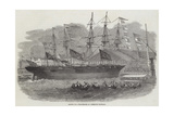 Launch of a War-Steamer at Limehouse Dockyard Giclee Print by Edwin Weedon