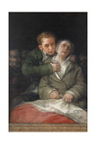 Self-Portrait with Dr. Arrieta, 1820 Giclee Print by Francisco de Goya