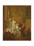 The Artist and His Family, C.1708 Giclee Print by Francois de Troy