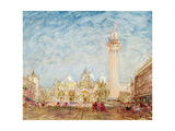 Saint Mark's Square in Venice Giclee Print by Felix Ziem