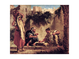 Arabs Playing Chess, 1847-49 Giclee Print by Ferdinand Victor Eugene Delacroix