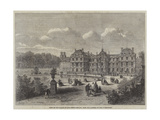 View of the Palace of the French Senate, from the Gardens of the Luxembourg Giclee Print by Felix Thorigny