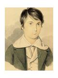 A Portrait of Dante Gabriel Rossetti (1828-1882), 1839-40 (Pencil and W/C on Card) Giclee Print by Filippo Pistrucci