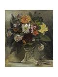 Vase of Flowers, 1833 Giclee Print by Ferdinand Victor Eugene Delacroix