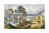 Staten Island and the Narrows from Fort Hamilton, N.Y., C.1861 Giclee Print by Frances Flora Bond Palmer