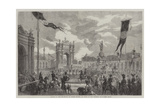 Opening of the Boulevard Du Prince Eugene, at Paris, by the Emperor Giclee Print by Felix Thorigny