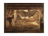 Inside One of the Barns, 1854 Giclee Print by Filippo Palizzi