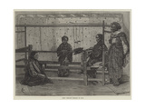 Girls Weaving Sarango in Java Giclee Print by Felix Regamey