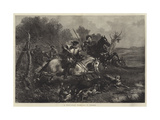 A Wild-Boar Hunt Giclee Print by F. Tayler