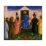The Trial by Fire of St. Francis before the Sultan, C.1435-40 Giclee Print by  Fra Angelico