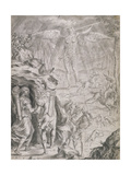 Dido and Aeneas Sheltering in a Cave Giclee Print by Francis Cleyn