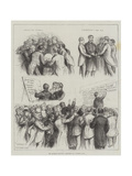 The General Election, Sketches at a London Club Giclee Print by Francis S. Walker