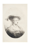 Young Lady with Plumed Hat, 1644 Giclee Print by Ferdinand Bol