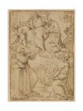 Jomfruens kroning Giclée-tryk af Francesco Albani