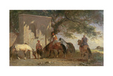 Arabs Watering their Horses Giclee Print by Eugene Fromentin