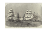 The Baltic Fleet Leaving Spithead Giclee Print by Edwin Weedon