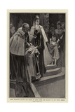 Their Majesties Leaving the House of Lords after the Reading of the King's Speech Giclee Print by Frank Craig