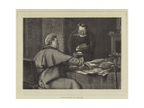 Squaring Accounts Giclee Print by Erskine Nicol