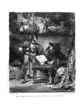 First Meeting Between Faust and Mephistopheles: `Why All This Noise' Giclee Print by Ferdinand Victor Eugene Delacroix