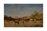 An Arabian Camp, 1873 Giclee Print by Eugene Fromentin