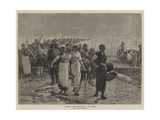 Return of the Oyster-Fishers, from the Paris Exhibition Giclee Print by Francois Feyen-Perrin