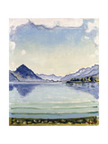 Thunersee at Leissingen, 1909 Gicléetryck av Ferdinand Hodler