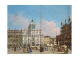 Piazza Di San Marco Looking Towards the Clock Tower Giclee Print by Francesco Guardi