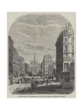 The Boulevard De Sebastopol, Paris Giclee Print by Felix Thorigny