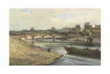 Pont De La Concorde and the Palais Des Tuileries from the Cours La Reine Giclee Print by Francois Louis Thomas Francia