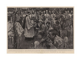 On the Eve of Battle, the Celebration of the Holy Communion on the Veldt Giclee Print by Frank Craig