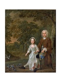 William Ellis and His Daughter Elizabeth, C.1745 Giclee Print by Francis Hayman
