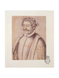 506 131-0793612/3 Portrait of Francisco Gomez De Quevedo Y Villegas (1580-1645) from the 'Book of D Giclee Print by Francisco Pacheco