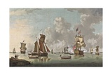 The Landing of the Sailor Prince at Spithead, 1765 Giclee Print by Francis Swaine