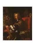 Self Portrait, 1730-31 Giclée-tryk af Francesco Solimena