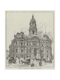 The New Townhall, Dewsbury, Yorkshire Giclee Print by Frank Watkins