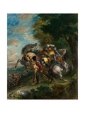Weislingen Captured by Gotz's Men, 1853 Giclee Print by Ferdinand Victor Eugene Delacroix