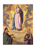 The Immaculate Conception with Saint Joachim and Saint Anne, C.1638-40 Giclee Print by Francisco de Zurbaran