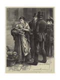 Sketches in London, a Flower Girl Giclee Print by Frank Holl