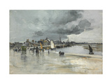Harbour at St. Vaast, the Hague, 1882 Giclee Print by Frank Myers Boggs