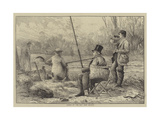 Fishing at The Bay, West Drayton Giclee Print by Frank Feller