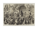 Entry of Victor Emmanuel into Naples Giclée-Druck von Frank Vizetelly