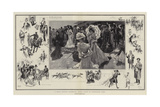 A Great Society Gathering, Royal Ascot in Coronation Year Giclee Print by Frank Craig